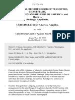 International Brotherhood of Teamsters, Chauffeurs, Warehousemen and Helpers of America, and Hugh L. Rutledge v. United States, 275 F.2d 610, 4th Cir. (1960)