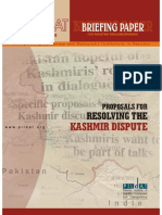 Proposals for Resolving the Kashmir Dispute
