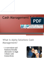 Cash Management Solution - M&P