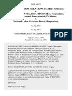National Labor Relations Board v. Transpersonnel, Incorporated, Transpersonnel, Incorporated v. National Labor Relations Board, 349 F.3d 175, 4th Cir. (2003)