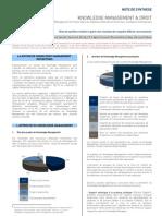 Knowledge Management & Droit en France (note de synthèse | 2006)