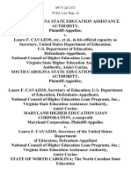 South Carolina State Education Assistance Authority v. Lauro F. Cavazos, Etc., in His Official Capacity as Secretary, United States Department of Education U.S. Department of Education, National Council of Higher Education Loan Programs, Inc. Virginia State Higher Education Assistance Authority, Amici Curiae. South Carolina State Education Assistance Authority v. Lauro F. Cavazos, Secretary of Education U.S. Department of Education, National Council of Higher Education Loan Programs, Inc. Virginia State Education Assistance Authority, Amici Curiae. Maryland Higher Education Loan Corporation, a Nonprofit Maryland Corporation v. Lauro F. Cavazos, Secretary of the United States Department of Education, National Council of Higher Education Loan Programs, Inc. Virginia State Education Assistance Authority, Amici Curiae. State of North Carolina the North Carolina State Education Assistance Authority v. United States of America Lauro F. Cavazos, Secretary of the United States Department of Ed