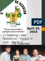 1st Olivares Clan Grand Reunion Ppt