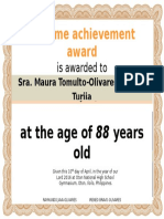 Olivares Grand Reunion Certificate With Picture Maurit