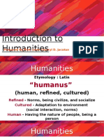 Lesson 1-Introduction to Humanities