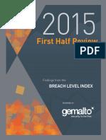 Gemalto H1 2015 Breach Level Report