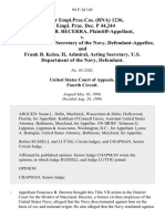 71 Fair empl.prac.cas. (Bna) 1236, 68 Empl. Prac. Dec. P 44,244 Francisco B. Becerra v. John H. Dalton, Secretary of the Navy, and Frank B. Kelso, Ii, Admiral, Acting Secretary, U.S. Department of the Navy, 94 F.3d 145, 4th Cir. (1996)