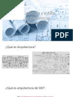 6.Arquitectura y Estilos Arquitectónicos