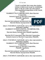 Marriott Plp Corporation Host Marriott Corporation, Formerly Known as Marriott Corporation, and Marriott International, Incorporated, Formerly Known as Marriott Hotels, Incorporated v. John S. Tuschman, Individually and as Class Representative, Marriott International, Incorporated, Formerly Known as Marriott Hotels, Incorporated, and Marriott Plp Corporation Host Marriott Corporation, Formerly Known as Marriott Corporation v. John S. Tuschman, Individually and as Class Representative, Marriott Plp Corporation Host Marriott Corporation, Formerly Known as Marriott Corporation, and Marriott International, Incorporated, Formerly Known as Marriott Hotels, Incorporated v. John S. Tuschman, Individually and as Class Representative, Marriott International, Incorporated, Formerly Known as Marriott Hotels, Incorporated, and Marriott Plp Corporation Host Marriott Corporation, Formerly Known as Marriott Corporation v. John S. Tuschman, Individually and as Class Representative, 97 F.3d 1448, 4th Ci