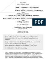 Leasing Service Corporation v. Fred Lee Crane, William Donald Crane and Crane Brothers Well Drilling, Leasing Service Corporation v. Fred Lee Crane, William Donald Crane and Crane Brothers Well Drilling, 804 F.2d 828, 4th Cir. (1986)