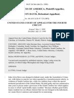 United States v. John Alvin Davis, 184 F.3d 366, 4th Cir. (1999)