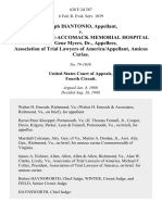Joseph Diantonio v. Northampton-Accomack Memorial Hospital and Gene Myers, Dr., Association of Trial Lawyers of America/appellant, Amicus Curiae, 628 F.2d 287, 4th Cir. (1980)