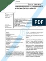 NBR 9518 - Equipamentos Eletricos Para Atmosferas Explosivas - Requisitos Gerais