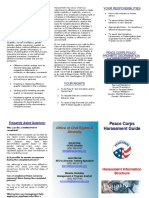 Peace Corps Harassment Information Brochure