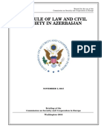 HOUSE HEARING, 114TH CONGRESS - THE RULE OF LAW AND CIVIL SOCIETY IN AZERBAIJAN