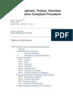 Peace Corps MS 293 Discrimination Complaint Procedure