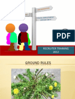 Peace Corps Recruiter Training 2012