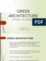 Greek Architecture by Bernadette Sison