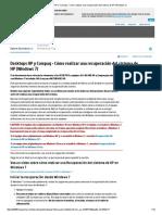 Desktops HP y Compaq - Cómo Realizar Una Recuperación Del Sistema de HP (Windows7)