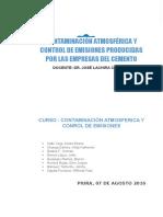Contaminacion Atmosferica y Control de Emisiones Producidas Por Las Empresas Del Cemento