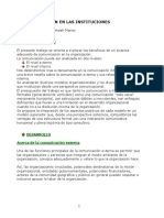 Comunicacion en Las Instituciones Resumen H. Maniei