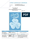 St. Timothy Parish Bulletin – May 30th, 2010