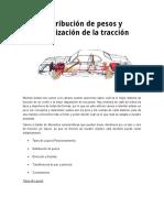 Distribución de Pesos y Optimización de La Tracción