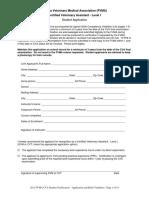 fvma student certification - application and skills validation