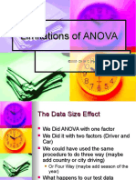 Summary and Limitations of ANOVA
