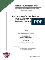 Automatización Del Proceso deUTOMATIZACIÓN DEL PROCESO DE SOLDADURA PARA LA FABRICACIÓN DE MARCOS Soldadura Para La Fabricación de Marcos