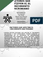 Factores Que Influyen El El Crecimiento Microbiano