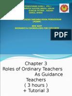 Topic 3 Roles of Ordinary Teachers as a Guidance Teacher