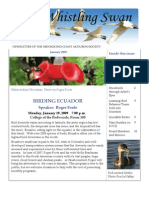 January 2009 Whistling Swan Newsletter ~ Mendocino Coast Audubon Society