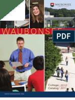 Waubonsee Catalog 2010-2011
