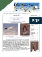 September 2009 Whistling Swan Newsletter ~ Mendocino Coast Audubon Society
