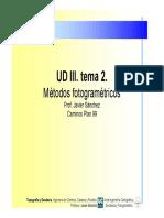 UD III. Tema 2. Métodos Fotogramétricos Prof- Javier Sánchez Caminos Plan 99