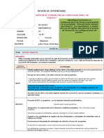 SESIÓN de APRENDIZAJE - Descubrimos El Patrón de Formación en Configuraciones de Puntos
