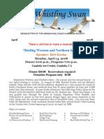 April 2008 Whistling Swan Newsletter ~ Mendocino Coast Audubon Society