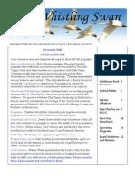 December 2008 Whistling Swan Newsletter ~ Mendocino Coast Audubon Society