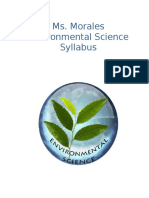 enviromental science syllabus