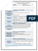 Plan de Auditoria Parametros Fisicoquimicos