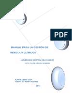 Manual Manejo de Residuos Químicos