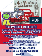 Inscripción Taller Teatro Infantil en Ingles 2016-017-Con Ficha de Inscripcion Doc