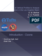Utilization of Vertical Profiles to Analyze Ozone Production in the Los Angeles Basin