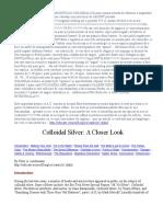 Metoda de Obtinere a Argintului Coloidal