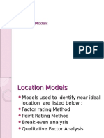 Models for Location Selection