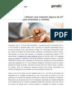 DNP y Gemalto ofrecen una conexión segura de IoT para empresas y clientes