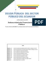 Deuda Sector Público Del Ecuador Febrero2016 Corregido