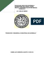 Promocion y Desarrollo Industrial en Guatemala