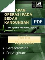 Persiapan Operasi Pada Bedah Kandungan 1